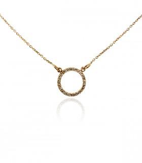 collar circulo diamantes oro rosa