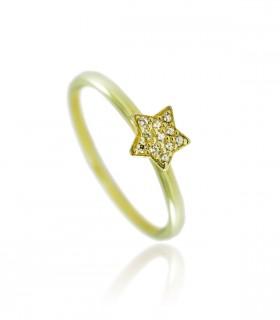 anillo estrella diamantes oro amarillo